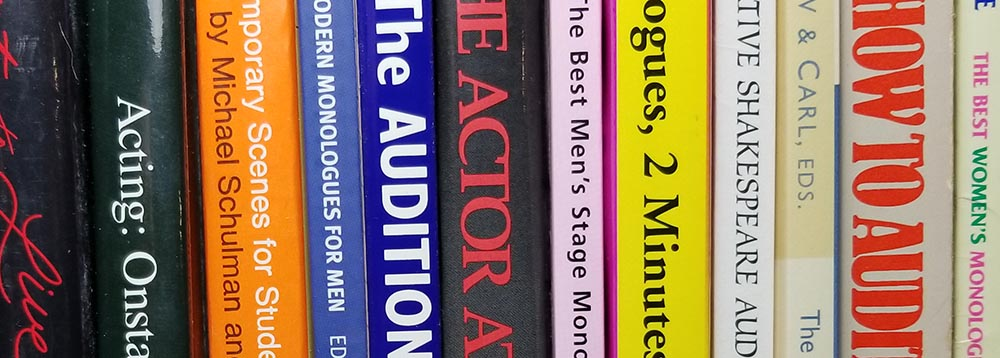 Collection of books about acting